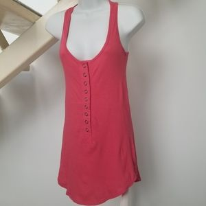 Bershka Coral Long Racerback Tank Top Size Small